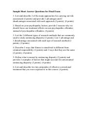 Sample Short Answer Questions for Final Exam.pdf