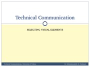 TechComm, Lecture 8 - Selecting Visual Elements