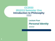 Lecture_4_Personal_Identity LATEST (1213S1)