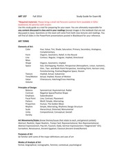 ART 157 Study Guide Exam 1