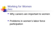 working for women rev