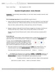 Ionic Gizmo   Name Austin Shaw Date Student Exploration ...