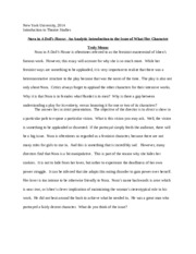 a doll s house essay questions A doll's house: essay q&a, free study guides and book notes including comprehensive chapter analysis, complete summary analysis, author biography information, character profiles, theme analysis, metaphor analysis, and top ten quotes on classic literature.