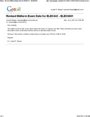 July 04 - Revised Midterm Exam Date for ELEC442 - ELEC6601