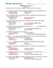 Exam 1 Jan 2008 Answers