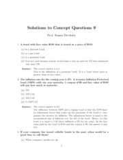 Solutions to Concept Questions 9