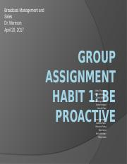 Group Assignment - Habit 1 Be Proactive.pptx
