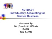 ACTBAS1  Lesson 7 - Payroll Accounting 1TAY1213