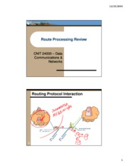 Lecture 14 - Route Processing Review