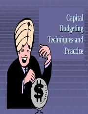 FIN Chapter 10 Capital Budgeting Techniques