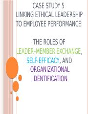 BERS C5 - Linking Ethical Leadership to Employee Performance - The roles of Leader-Member Exchange S