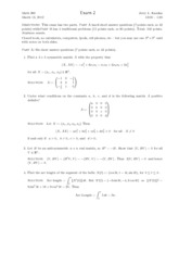 UPenn MATH 260 2012 Midterm 2 with Solutions