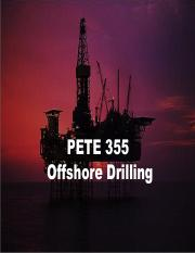 11 PETE 355 - Offshore Drilling
