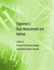 02 - Basic Measurements and Methods
