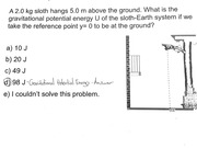 Finding the Gravitational Potential Energy - Practice Problem & Solution