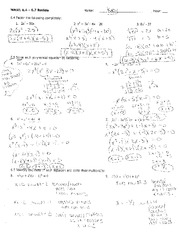 Printables Kuta Software Infinite Algebra 1 Worksheet dividing polynomials with key kuta software infinite algebra 1 4 pages factoring review homework key