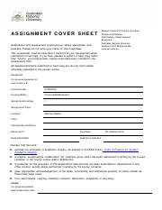 RSFAS_Assignment Cover Sheet