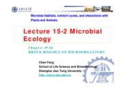 19-2 Lecture 15-2 Microbial Ecology