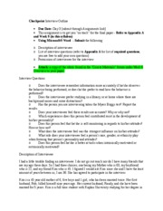 interview outline beh 225 Interview outline the interviewee is a 62-year-old-woman- that-is-a-very-devoted-acquaintance to interview profile essay beh/225 syllabus beh 225 entire.