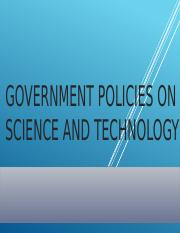 Government policies on science and technology.pptm