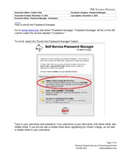 Password Manager Enrollment