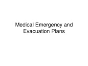 SPTE 203 Medical Emergency and Evacuation Plans