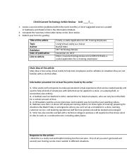 Joseph Stevens unit 7 CS140 Current Article Review Form.docx