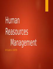 Human Reasources