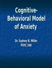 (8) CBT Model of Anxiety 2016