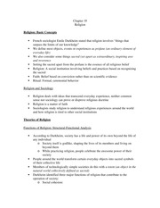 Chapter 19 Sociology Notes (update)