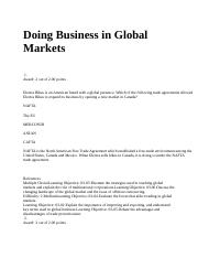 Doing Business in Global Markets.docx