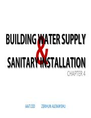 building-water-supply-sanitary-installation