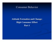 Attitude formation and change - TRA and other frameworks