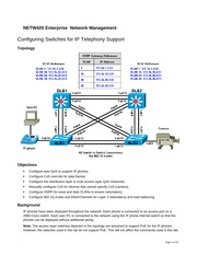 Configure switches for IP telephony netw420