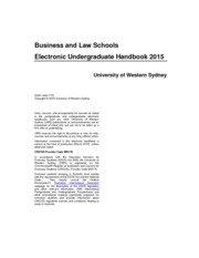 2015 business and law schools undergraduate handbook