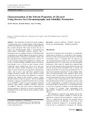 Characterization of the Solvent Properties of Glycerol.pdf