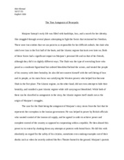 essay role of women in things fall apart abir ahmed role of 6 pages essay 1 the true antagonist of persepolis