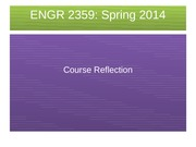 ENGR 2359 Reflection