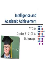 Lecture 8 - Intelligence and Academic Achievement.pptx