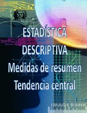 Estadística descriptiva medidas de tendencia central