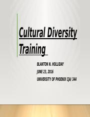 Cultural Diversity Training