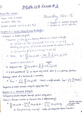math 120 midterm 2 study guide