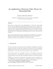 extreme value theory 1