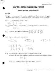 Ratios Rates and Word Problems