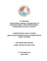 'Malaysian Perspective on Corruption in Legal System'.pdf