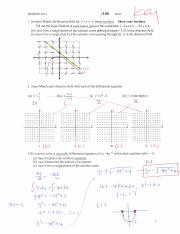 Study Guide Differential Equations Exam 3