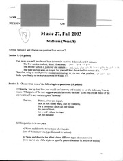Music 27 - Fall 2003 - Moroney - Midterm