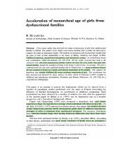 Hulanicka 1999 Acceleration of menarcheal age of girls from dysfunctional families EN#3756.pdf