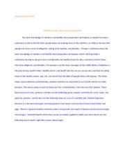 Nutrition Course Final Learning Statement essay