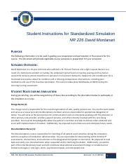 Student NR226 David Montanari  Simulation Instructions Outcomes Sheet.pdf